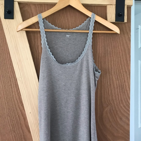 GAP Tops - Cocoa Brown Gap tank/camisole with lace detail💫